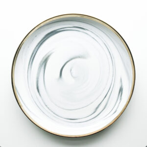 White marble -  Stor tallerken