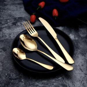 Guld bestik 24 dele - Milano