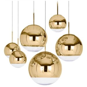 Loftlampe, Guld - Zara, Ø15cm