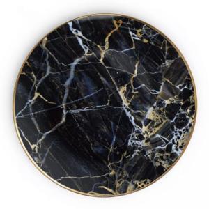 Black marble - Tallerken stor