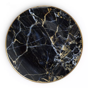 Black marble - Tallerken lille