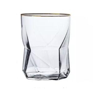 Vandglas med guldkant - Svane