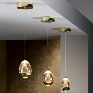 Schuller loftlampe - Rocio 1 lyskilde, guld