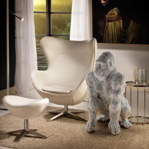 Sølv skulptur - Gorilla, stor