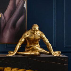 Guld skulptur- Fittness