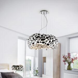 Schuller loftlampe - Narisa sølv, 5 lyskilder
