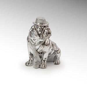Sølv Skulptur - Bulldog