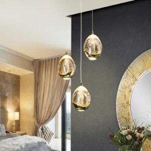 Schuller loftlampe - Rocio 3 lyskilder, guld