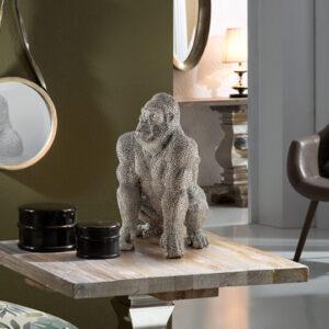 Sølv skulptur - Gorilla, mellem