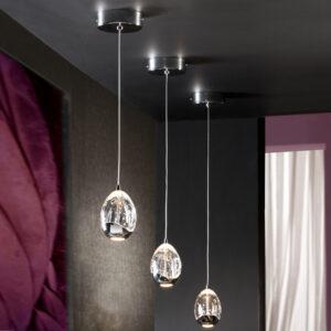 Schuller loftlampe - Rocio 1 lyskilde, sølv
