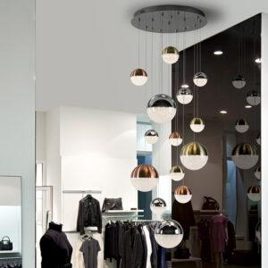 Schuller loftlampe - Sphere 14 lyskilder, forskelige farver