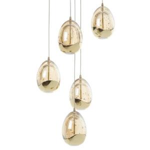 Schuller Loftlampe - Rocio 5 lyskilder guld