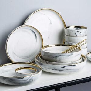 White marble - Soya skål