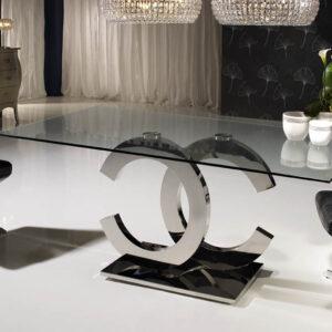 Spisebord i glas  - Soprano, 1,6 m