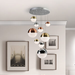 Schuller loftlampe - Sphere 9 lyskilder, forskelige farver