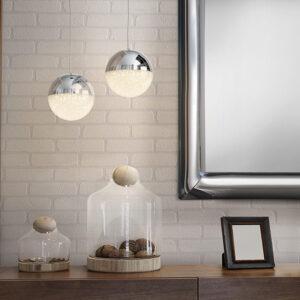 Schuller loftlampe - Sphere 1 lyskilde. Krom lille