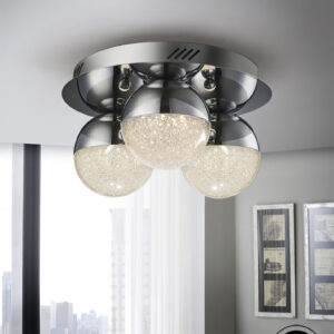 Schuller loftlampe - Sphere 3 lyskilder, krom