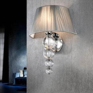 Schuller væglampe - Mercury sølv
