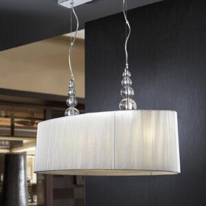 Schuller loftlampe - Mercury sølv, 4 lyskilder