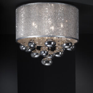Schuller loftlampe - Andromeda 5 lyskilder, krom