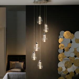 Schuller loftlampe - Taccia 6 lyskilder