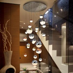 Schuller loftlampe - Sphere 27 lyskilder, forskelige farver