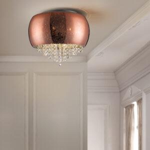 Schuller loftlampe - Caelum 5 lyskilder, Kobber