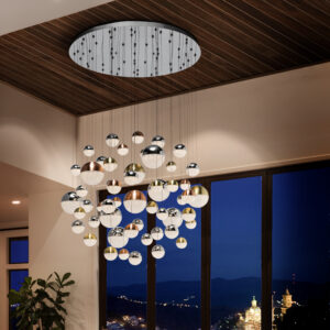 Schuller loftlampe - Sphere 55 lyskilder, forskelige farver