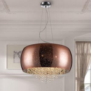 Schuller loftlampe - Caelum 6 lyskilder, Kobber