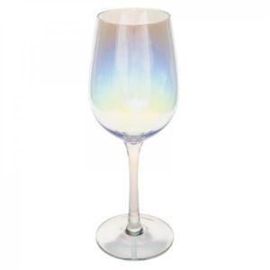 Rødvinsglas regnbuefarvet - Safir
