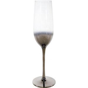 Champagneglas sølvfarvet - Safir
