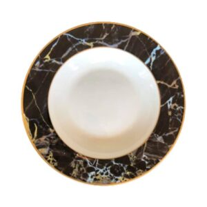 Black marble - Tallerken dyb