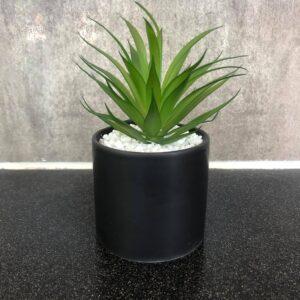 Sort potte, Kunstig plante - Lisa