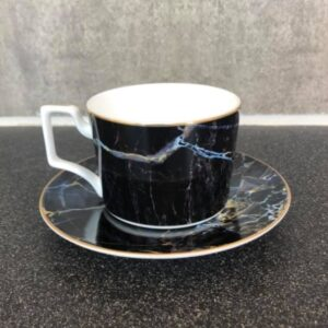 Black marble - Kaffekop & underkop