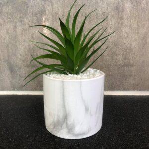 Marble potte, Kunstig plante - Lisa