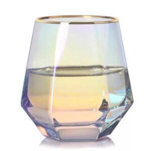 Regnbuefarvede vandglas - Alvira