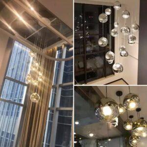 Loftlampe, Sølv - Zara, Ø15cm