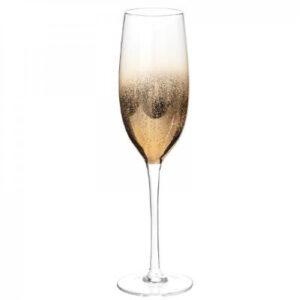 Champagneglas guldfarvet, 6 stk, - Safir
