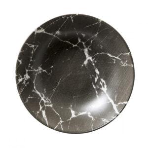 Sort marble - Tallerken dyb