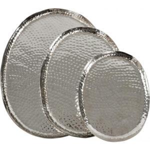 Bakke sæt i Sølv, 3 stk. - Ovalt, Milas