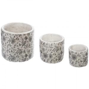 Krukker i cement 3 stk - Clementa