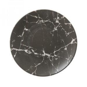 Sort marble - Tallerken lille