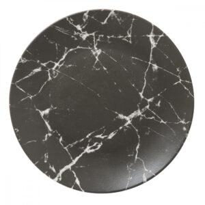 Sort marble - Tallerken stor