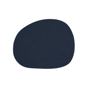 RAW buffalo dækkeserviet 95% genbrugslæder - Mørkeblå 41 x 33,5 cm. 4 Stk.