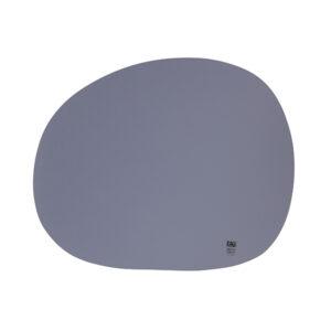 RAW Organic dækkeserviet - Stone blue silikone 41 x 33,5 cm. 4 Stk.