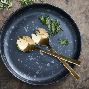 Aida RAW bestik guld - 2 dele salatsæt (Gaveæske)