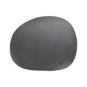 RAW Organic dækkeserviet silikone - Grå 41 x 33,5 cm. 4 Stk.