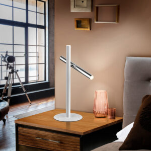 Schuller bordlampe - Varas, hvid/krom