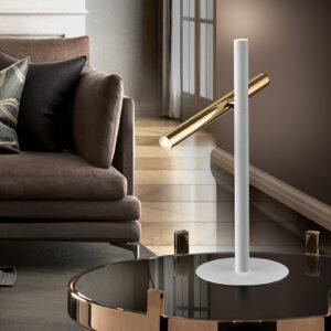 Schuller bordlampe - Varas, hvid/guld