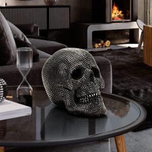 Sort skulptur - Skelethoved